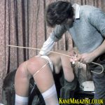 Sue Ellis gets her bare bottom caned