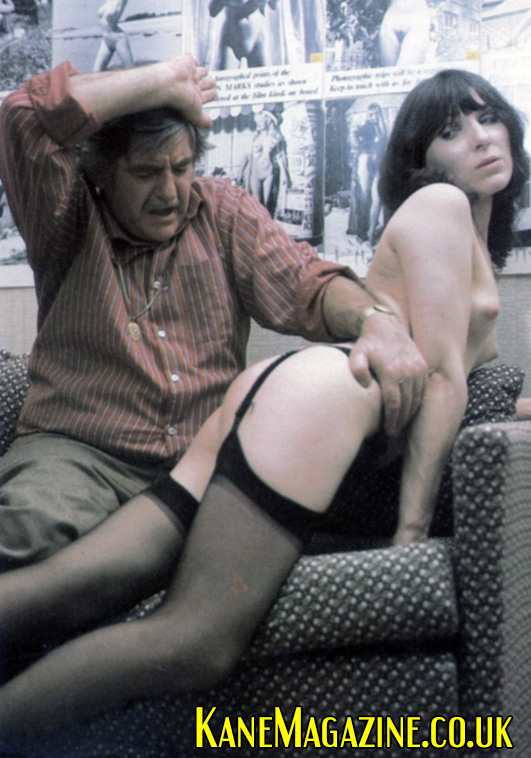 Linda O'Brien gets a spanking from George Harrison Marks
