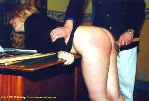 School Bully Spanked her bare bottom was strapped and caned hard, leaving her red, striped and sore