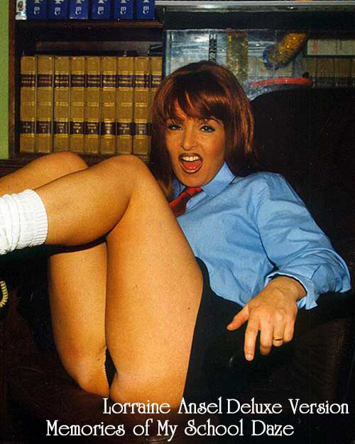 Lorraine Ansel talks about her school days and spankings she received,she also gets her bare bottom spanked and caned