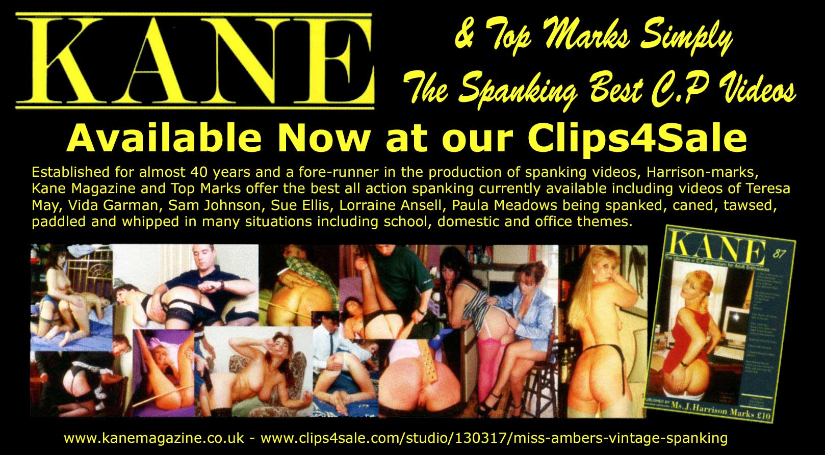 Kane and Top Marks spanking videos at Clips for Sale